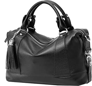 Leather Shoulder Bag Womens Tote Top Handle Handbags Cross Body Bags for Office Lady