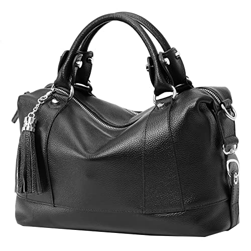 3ad7c83dc269 Black Leather Handbag: Amazon.com