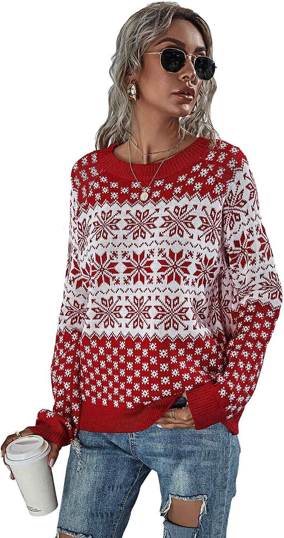 HZSONNE Women's Snowman Bargain Tree Sweater Over item handling ☆ Christmas Snowflakes Cardig