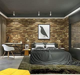 Hot Memory 3D Vintage Embossed Stone Brick Effect Vinyl Wallpaper for Bedroom Living Room TV Background Home Decor HTWB0026N