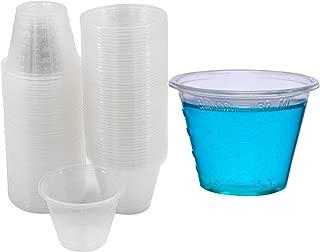 1000 Plastic Disposable Medicine Measuring Mixing Cups, Small 1 oz Dosage Graduated