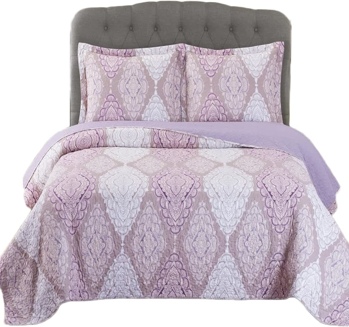 Jewel- online shopping Full Queen 92x96 Size Super Special SALE held 3pc Quilt Over-Sized Luxury Set