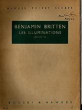 Les Illuminations de Rimbaud (Vocal Score) for Soprano or Tenor Voice and Piano