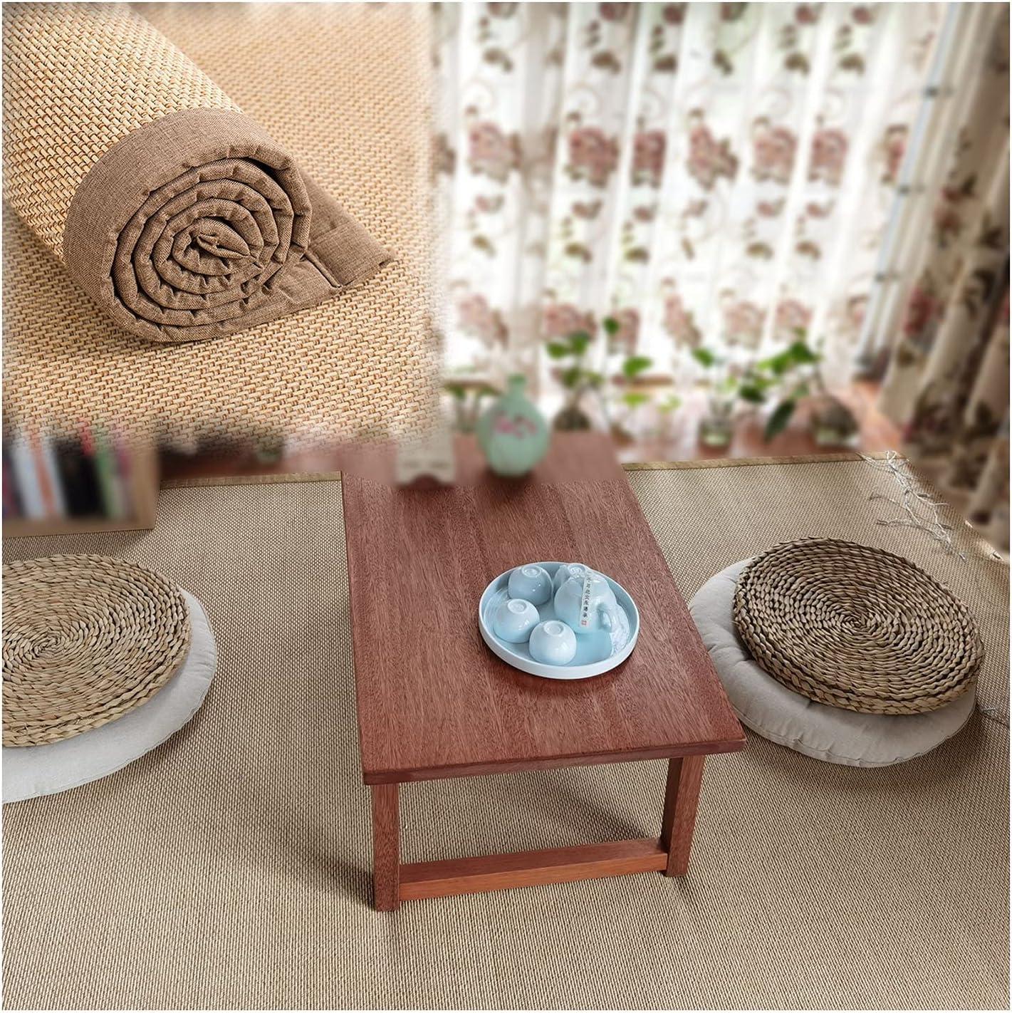 Dedication WENZHE Natural Bamboo Woven Carpet Dealing full price reduction Japanese Slidi Style Prevent