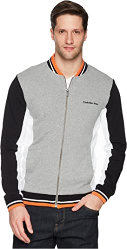 Athletic Color Block Full Zip Jacket