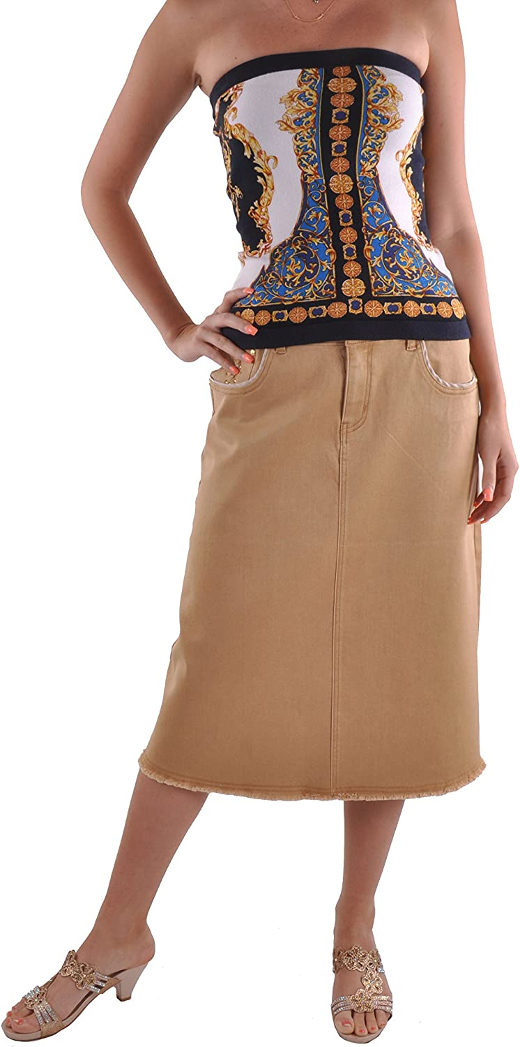 Style J Khaki Queen Denim Skirt
