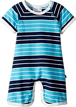 Toobydoo - On The Beach Stripe Shortie Jumpsuit (Infant)