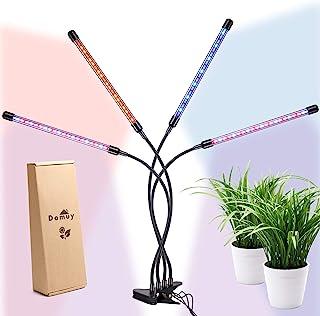 Lámpara de Cultivo para Plantas de Interior, 4 Paneles LED, Temporizador, Flexos con Pinza, USB y Adaptador. Luz de Espectro Completo para Germinación, Crecimiento Vegetativo y Floracion Indoor