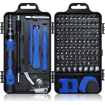 Gocheer 115 in 1 Mini Set cacciaviti Professionali magnetici Stella giraviti Kit cacciavite di precisione per Occhiali, orologiaio,Orologio,Riparazione cellulari,Smartphone, iPhone, PC