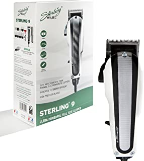 Wahl Professional Sterling 9 Clipper #8145 – Great for Professional Stylists and Barbers – V9000 Electromagnetic Motor - W...