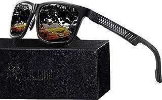 Mg-Al Driving Polarized Sunglasses for Men UV Protection Outdoors Sunglasses for Medium&Big Head 61MM Lightweight
