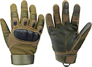 Xnuoyo Gomma dura Nocca Full Finger e Mezza Finger Gloves Guanti di protezione Touch Screen Guanti per Moto Ciclismo Cacci...