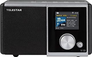 TELESTAR M 12i Internetradio (Mono, Internet, WLAN, Farbdisplay, Mediaplayer, 15 Watt, UPNP) Silber/schwarz
