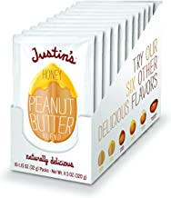 Justin's Honey Peanut Butter Squeeze Packs, Gluten-free, Non-GMO, Responsibly Sourced, 11.5 Ounce (Pack of 1) (1.15 Ounce each)