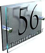 Prestige Contemporary Perspex House Sign Number/Signs/Numbers