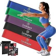 Resistance Band Fitnessbanden Rubber/Stof Set - Weerstandsbanden + Trainingshandleiding | Booty Loop Gymnastiekband Fitnes...