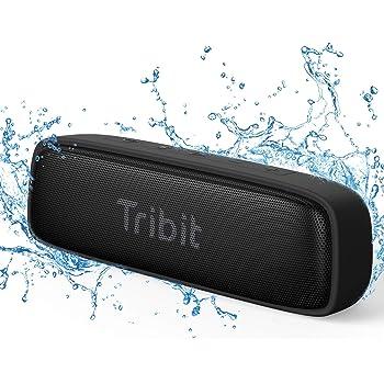 Tribit XSound surf Bluetooth スピーカー 2020年 IPX7完全防水 12W ポータブルスピーカー ブルートゥーススピーカー 低音強化/内蔵マイク搭載 アウトドア お風呂 iPhone & Android対応 ブラック
