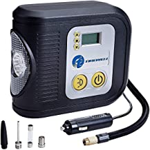 TIREWELL TW-7001 12V Digital Tyre Inflator Auto Cutoff Portable Air Compressor with LED Light and 3 Different Nozzle (200 PSI)