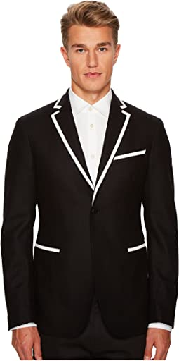 Woven Sport Jacket with Piping