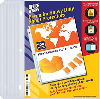 Heavy Duty Clear Sheet Protectors