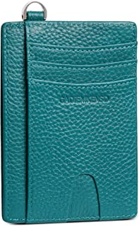 GADIEMKENSD Credit Card Holder RFID Blocking Genuine Leather Slim Card Wallet Compact Size Card Cases for Women Men Keycha...