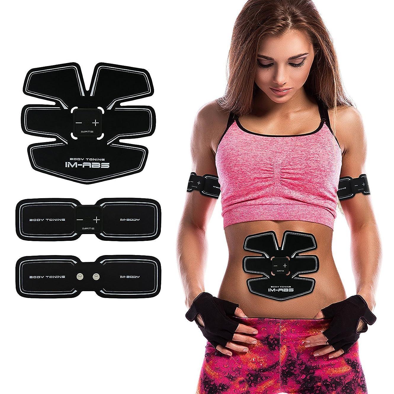 ファイターのヒープロッド腹筋ベルト ems腹筋マシン 健康器具 筋肉刺激 運動用 お腹 腹筋 背筋 側筋の使用に適して 男女兼用