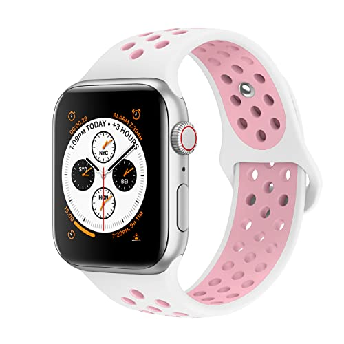 210870e73ff8 AdMaster Compatible for Apple Watch Bands 38mm 40mm 42mm 44mm,Soft Silicone  Replacement Wristband Compatible