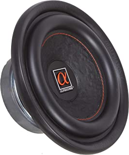 """Alphasonik HSW208 Hyper 200 Series 8"""" 600 Watts Max / 200 Watts RMS Single 4 Ohm Car Subwoofer Stamped Alpha Steel Basket with High Grade Magnet Non Pressed Paper Cone Audio Speaker Bass Sub Woofer"""