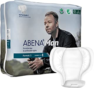 Abena Man Premium Incontinence Guard, Formula 2, 180 Count (12 Packs of 15)
