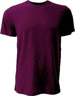 Canvas Unisex Jersey Crew Neck T-Shirt/Mens Short Sleeve T-Shirt