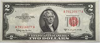 1953 C Series Red Seal $2 Two Dollar US Note