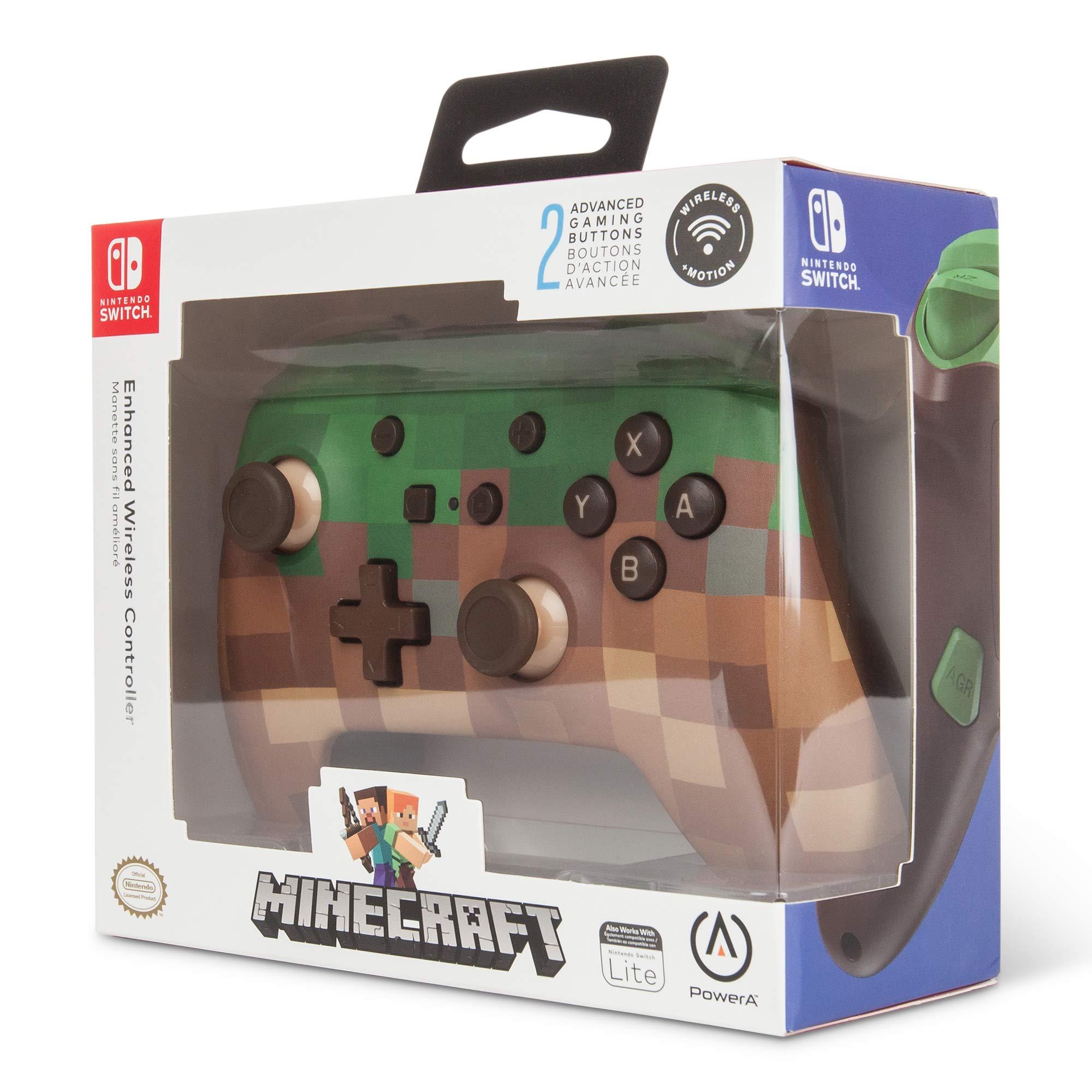 Mando inalámbrico PowerA para Nintendo Switch: Minecraft Grass ...