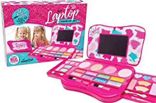(Laptop Design) - My Laptop Girls Makeup Set by Make it Up Fold Out Makeup Palette with Mirror and Secure Close - SAFETY T...