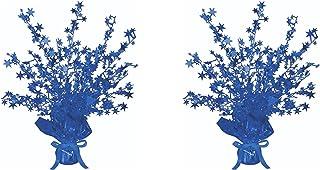 """Beistle, 2 Piece Star Gleam 'N Burst Centerpieces, 15"""" (Blue)"""
