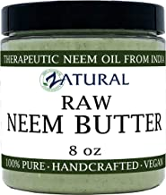 Organic Neem Butter-Shea Butter, Coconut Oil, Neem Oil, Neem Leaf, Marula Oil, Kokum Butter, Rosemary (8 Ounce)