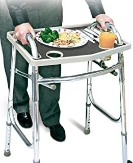 Universal Walker Tray Table With Non Slip Grip Mat - Gray …