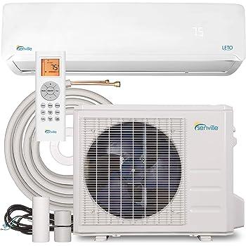 Senville SENL-24CD Mini Split Air Conditioner Heat Pump 24000 BTU 17 SEER 208/230V, White