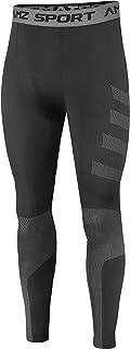 AMZSPORT Leggings da Uomo Cool Dry Running Pants Sport Gym Tights