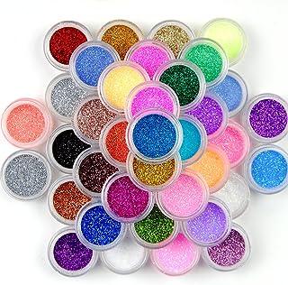 Surepromise 45 Colors Mix Colors Eyeshadow Makeup Nail Art Pigment Glitter Dust Powder Set