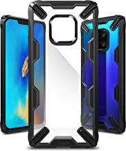 Ringke Fusion-X Designed for Huawei Mate 20 Pro Case Cover Clear Dot PC Back with Rugged TPU Bumper Anti Rainbow Effect (Straps Access Design) for Huawei Mate 20 Pro - Black