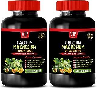 Bone Health Magnesium - Calcium Magnesium Phosphorus Vitamin D-3 & Boron - Magnesium Calcium Supplement 1000mg - 2B (240 C...