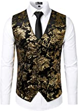 Best black and gold suit vest Reviews