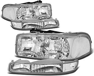 For GMC Sierra/Yukon GMT800 Headlight+Bumper Light Kit (Chrome Housing Clear Corner)