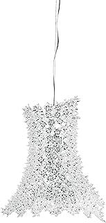 Kartell Bloom, Lampe de Suspension, Cristal, avec Des Fleurs