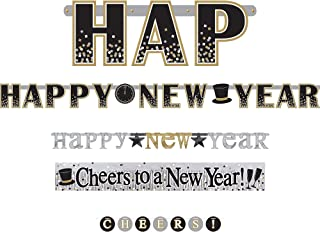 amscan 4 in 1 Happy New Year Decoration Banner Set