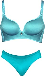 HANS Women's Cotton Non-Wired Bra and Panty Set for Women