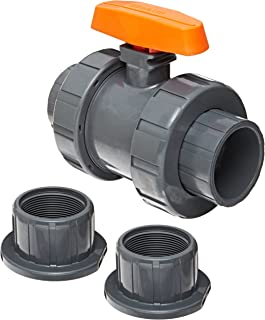CEKER Ball Valve 6mm OD X 6mm OD Tube Air Line Fitting Check Valve Union Straight Push to Connect Hand Valve Air Flow Fittings Pneumatic Fitting 1Pack