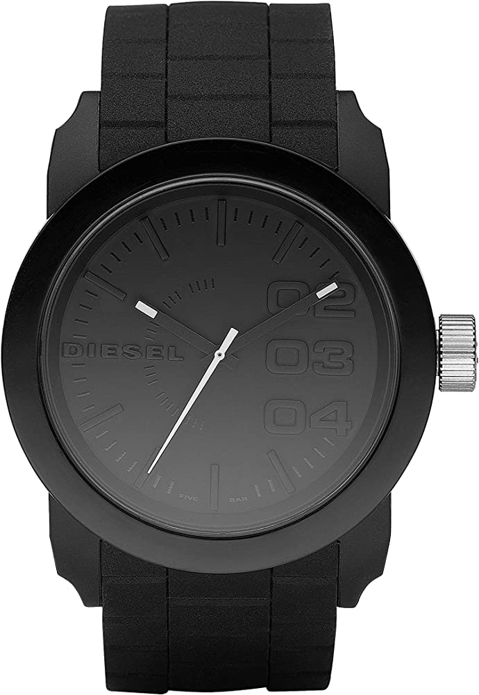 Diesel, orologio analogico al quarzo per uomo,con cassa in acciaio e cinturino in silicone DZ1437