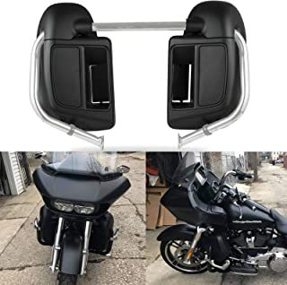 US Stock Denim/Matte Black Rushmore Lower Vented Fairings Glove Box Lowers Fit for Harley Touring Street Road King Glide Electra Glide Ultra Classic 2014 2015 2016 2017 2018 2019 2020