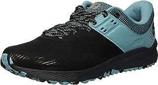 New Balance Women's Nitrel V2 FuelCore Trail Running Shoe Black/Thunder/Enamel Blue 6.5 B US